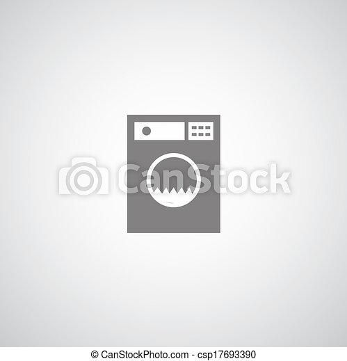 vecteurs eps de machine symbole lavage washing machine symbole blanc csp17693390. Black Bedroom Furniture Sets. Home Design Ideas