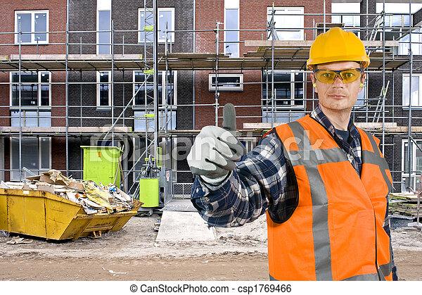 Satisfied construction worker - csp1769466
