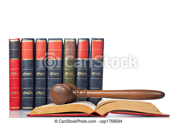 Gavel over the opened law book - csp1769594