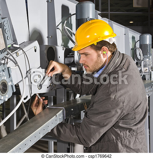 Maintenance engineer at work - csp1769642