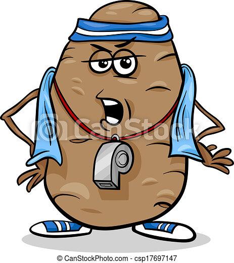 Eps Vektor Von Couch Kartoffel Spruch Karikatur