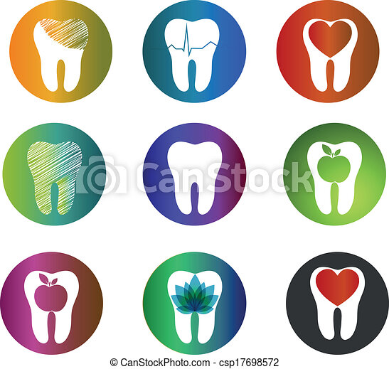 Huge collection beautiful dental symbols - csp17698572