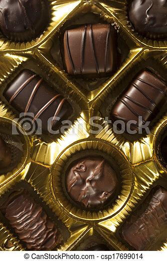 Box of Gourmet Chocolates for Valentine's Day - csp17699014