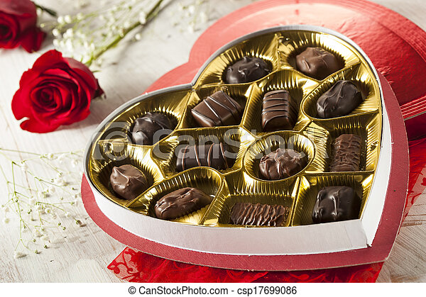 Box of Gourmet Chocolates for Valentine's Day - csp17699086