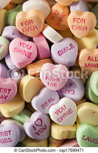 Candy Conversation Hearts for Valentine's Day - csp17699471