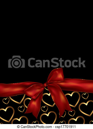 valentines day background with bow - csp17701911