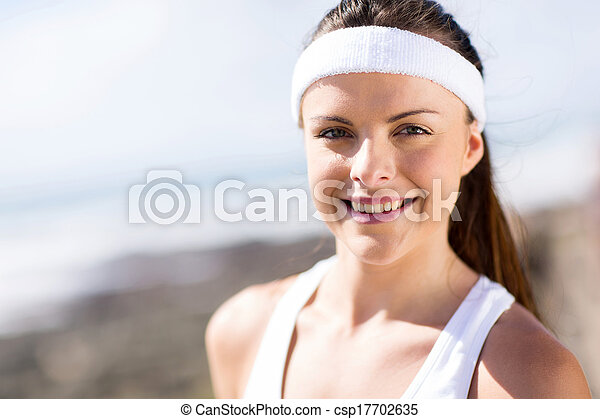 pretty fitness woman closeup - csp17702635