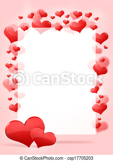 Abstract frame with red hearts - csp17705203