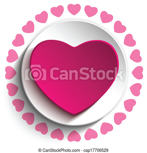 Valentine Day Love Heart Pink Background - csp17706529