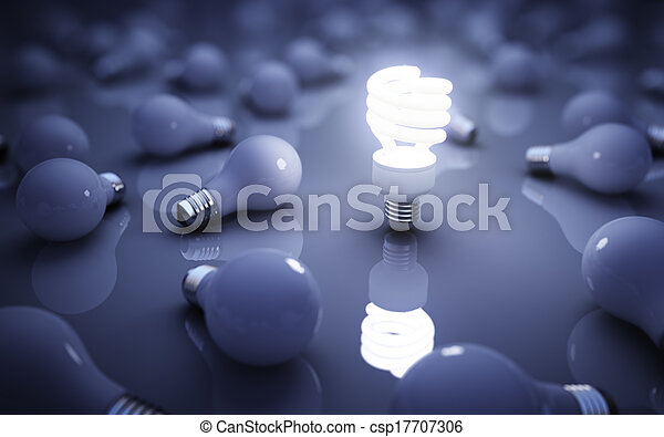 lamps on blue - csp17707306
