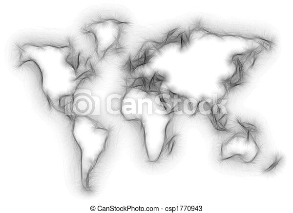 blurred world map silhouette - csp1770943