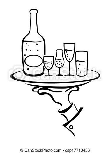 vecteur clipart de serveur  tient  main  plateau  vin water clip art free images water clip art free images