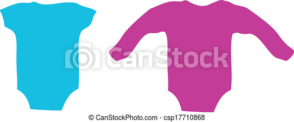 Clip Art Vector of baby clothing one piece t-romper ... - photo #1