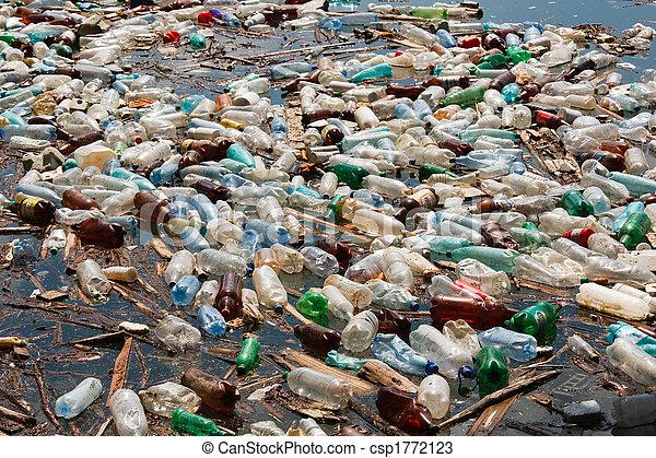 plastic bottle pollution - csp1772123