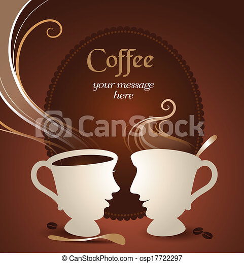 EPS Vectors of Coffee Talk - Vector illustration of two ...