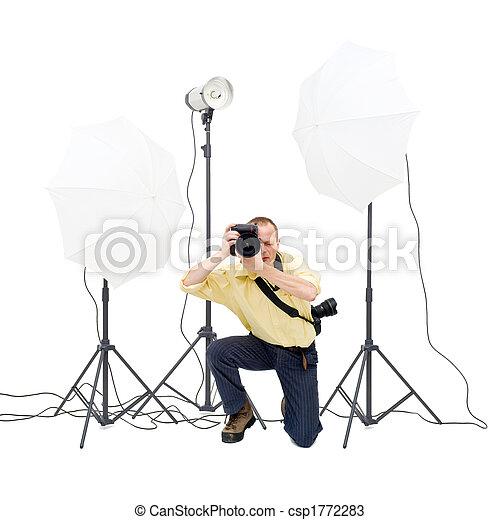 Studio photographer - csp1772283