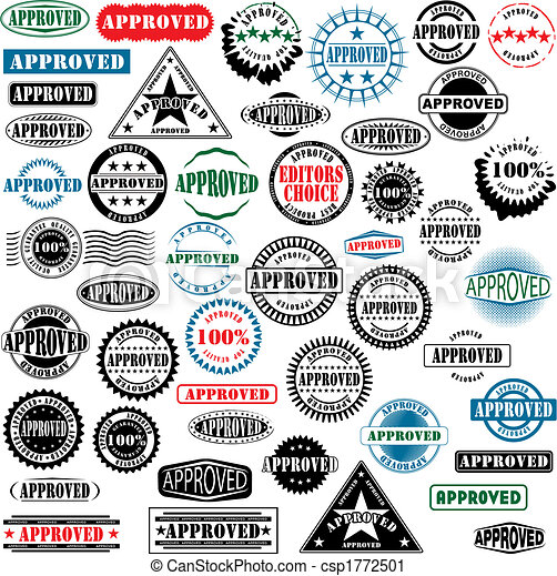 Approved rubber stamps collection - csp1772501