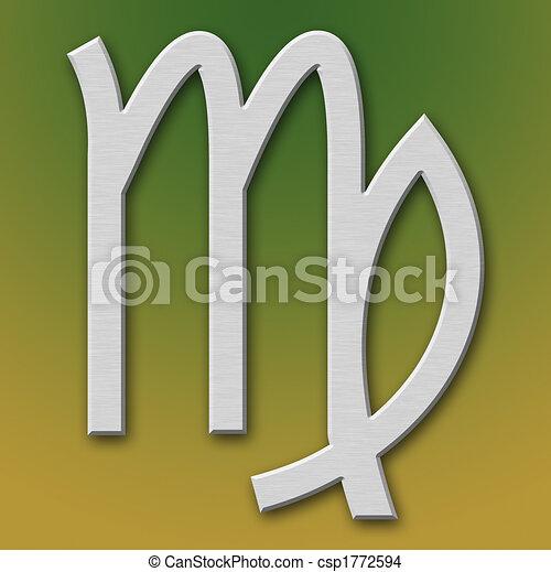 Desenho de virgo alum nio s mbolo ligado fundo - Simbolo de aluminio ...