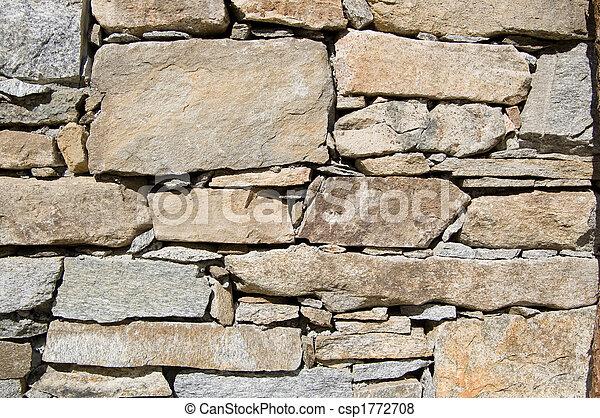 Rural stone wall - csp1772708