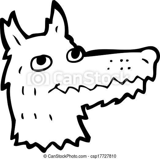 Vecteur dessin anim loup t te banque d 39 illustrations illustrations libres de droits - Tete de loup dessin ...