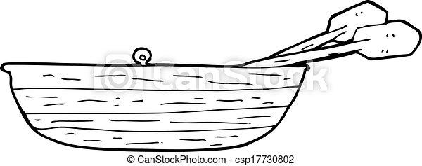Vector Clipart of cartoon rowing boat csp17730802 - Search Clip Art ...