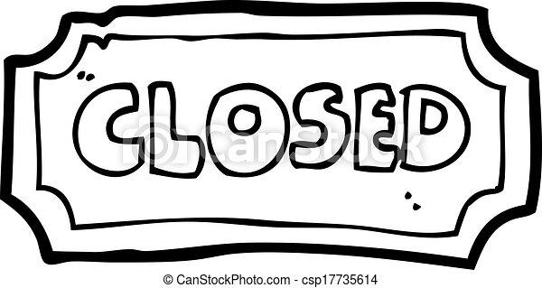 Clip Art Closed Clip Art vector clip art of cartoon closed sign csp17735614 search sign