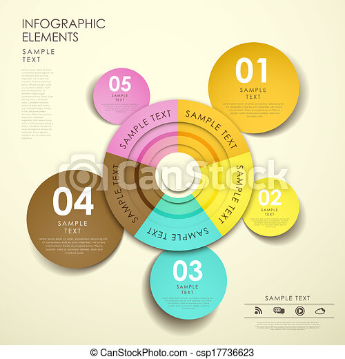 Clipart Vector of abstract pie chart infographics - flat style ...