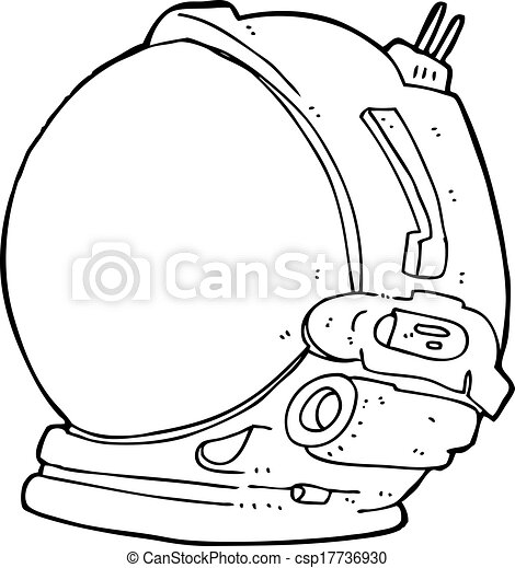 Vector - cartoon astronaut helmet - stock illustration  royalty free    Astronaut Helmet Drawing