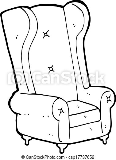 Clipart Vector Of Cartoon Old Armchair Csp17737652