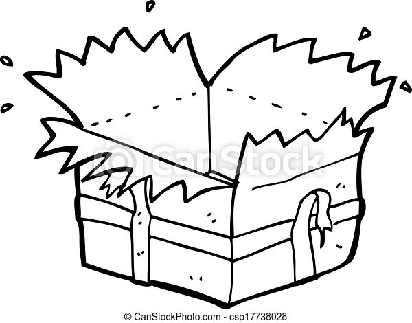 Vector Illustration of cartoon open present csp17738028 ...