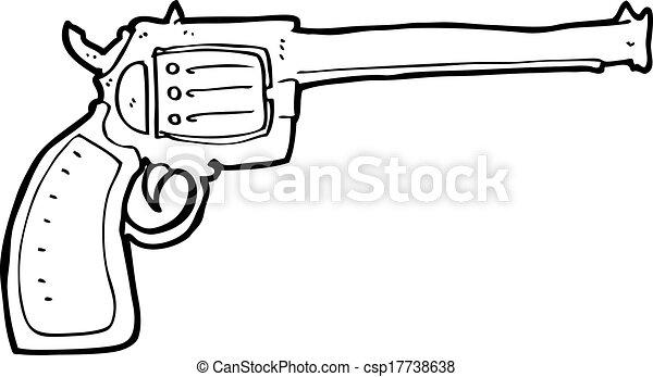 how to draw a cartoon gun easy