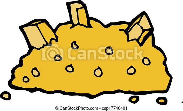 vector clip art de pila caricatura oro caricatura
