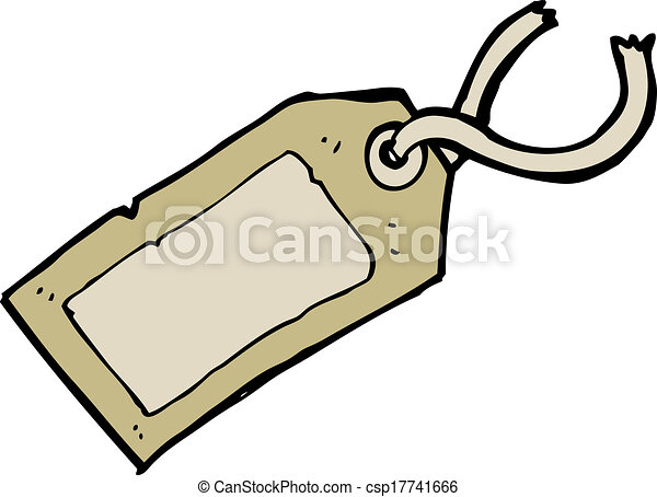 Luggage Tag Clipart Cartoon luggage tag - csp17741666