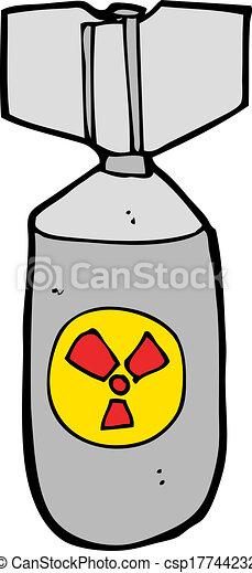 Vectors of cartoon nuclear bomb csp17744232 - Search Clip Art ...