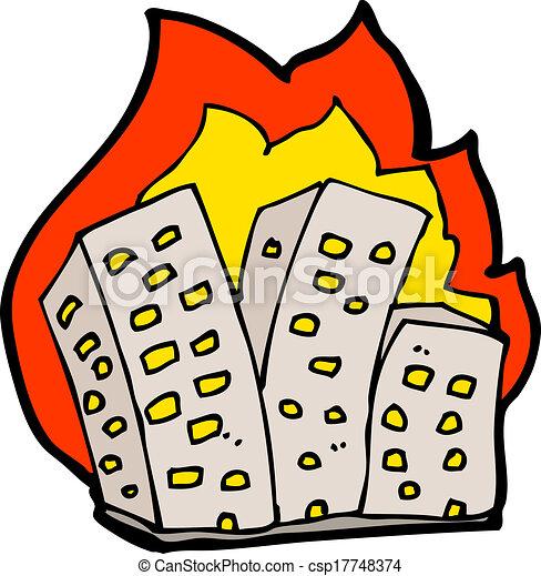 Burning Building Drawing Cartoon Burning Buildings