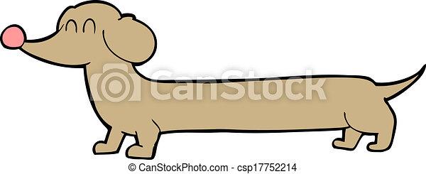 Clip art vecteur de dessin anim teckel csp17752214 - Dessin teckel ...