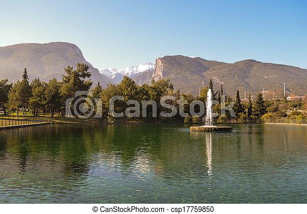 Beautiful lake in Litochoro - csp17759850
