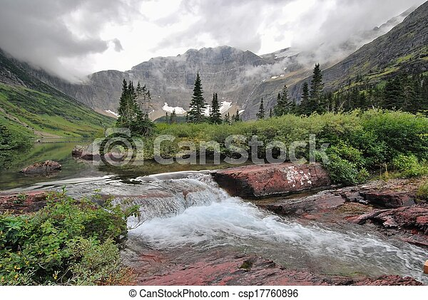 Glacier National Park in Montana - csp17760896