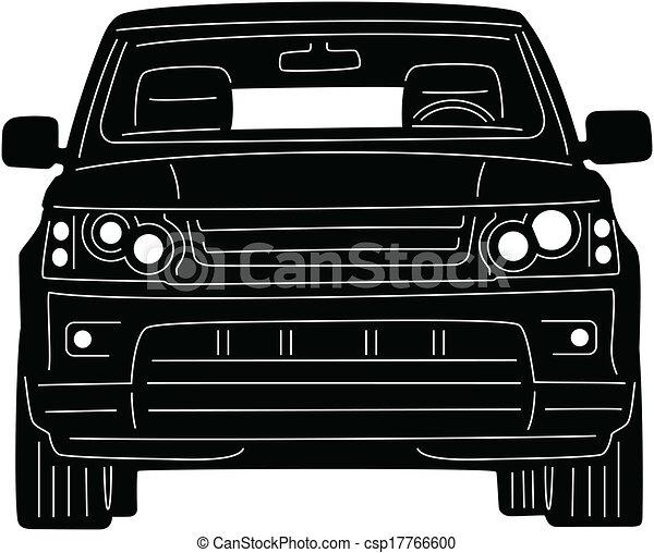 Clipart Vecteur de 4x4, camion - Illustration, de, grand ...