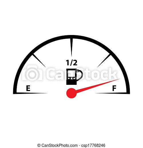 Fuel Gauge Icon - csp17768246Fuel Gauge Clipart