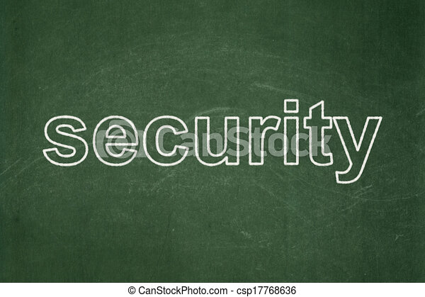 Privacy concept: Security on chalkboard background - csp17768636