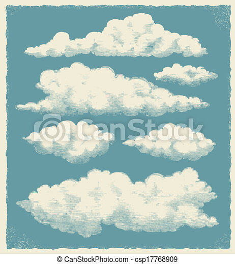 Cloud Designs Drawings Cloud Vector Background Design