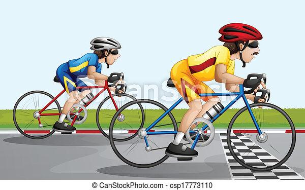 велогонки в рисунках
