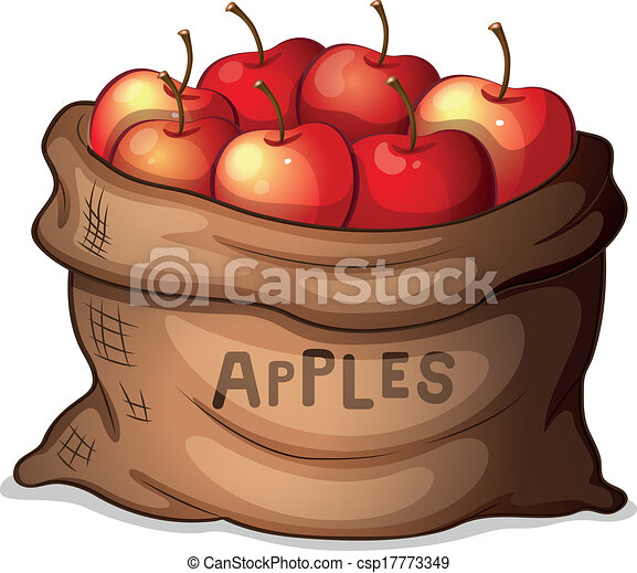 Eps Vector Of A Sack Of Apples Illustration Of A Sack Of