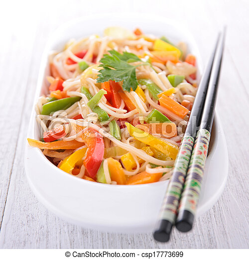 noodles and vegetables - csp17773699