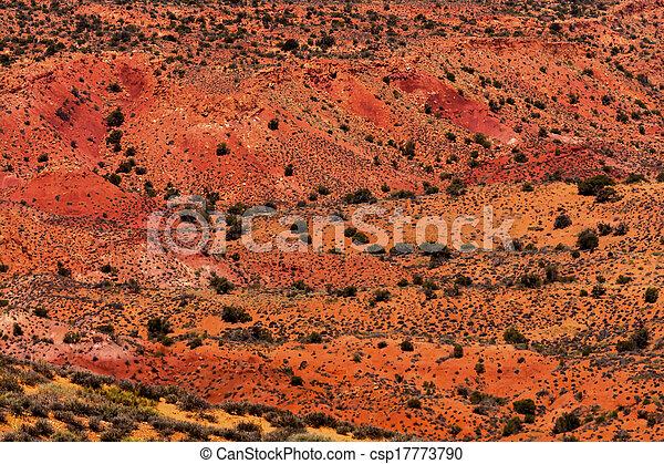 Gelber gras länder orange sandstein rotes feurig ofen bögen