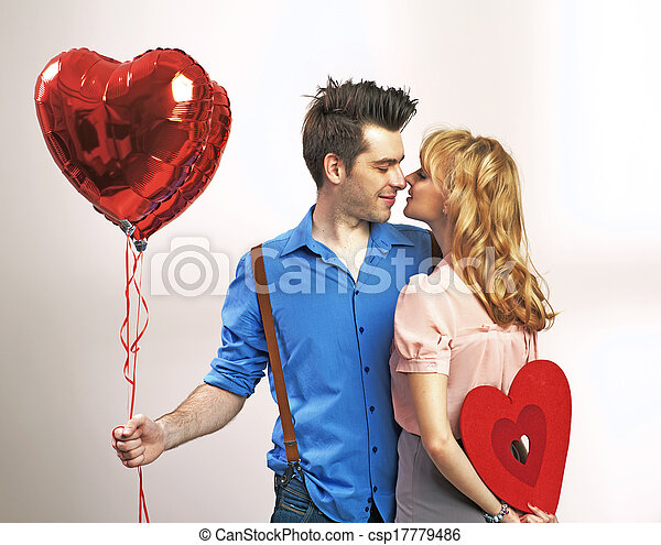 Attractive young couple during valentine's day - csp17779486
