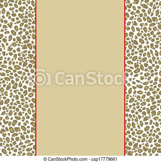 Stock Illustration of Animal Print Border - Stylish leopard print ...