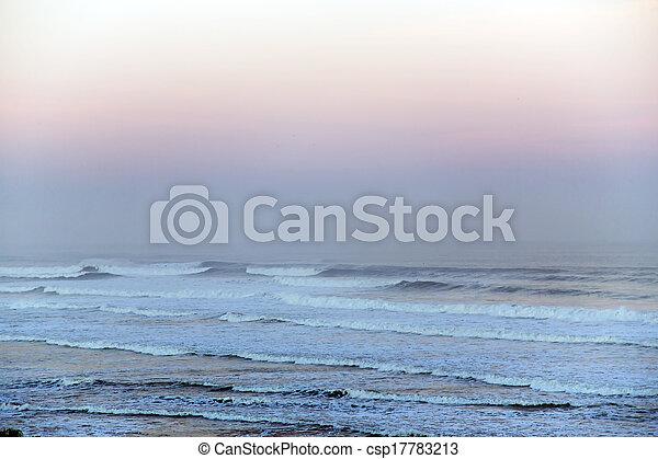Sunrise above the Atlantic ocean - csp17783213
