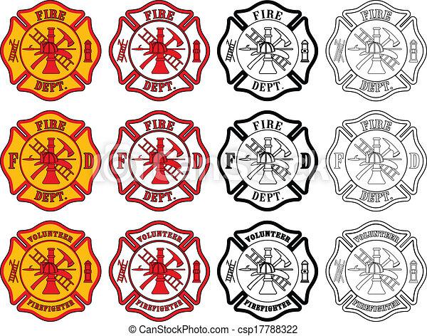 Firefighter Cross Symbol - csp17788322